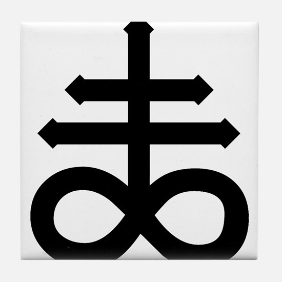 Hermetic Alchemical Cross Tile Coaster