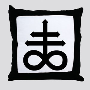 Hermetic Alchemical Cross Throw Pillow