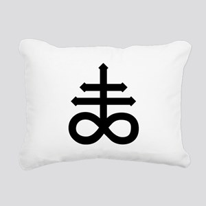 Hermetic Alchemical Cross Rectangular Canvas Pillo