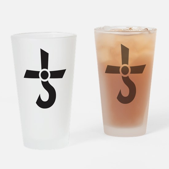 CROSS OF KRONOS (MARS CROSS) Black Drinking Glass