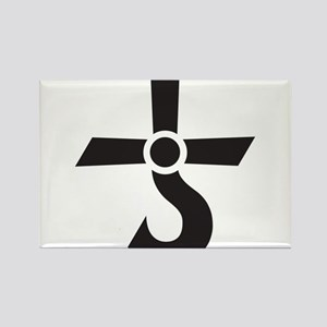 CROSS OF KRONOS (MARS CROSS) Black Rectangle Magne