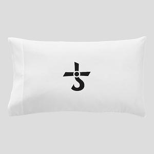 CROSS OF KRONOS (MARS CROSS) Black Pillow Case