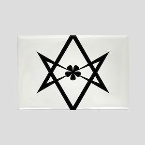 Unicursal hexagram (Black) Rectangle Magnet