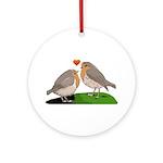 Robin red breast bird love Ornament (Round)