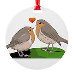 Robin red breast bird love Round Ornament