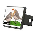 Robin red breast bird love Rectangular Hitch Cover