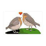 Robin red breast bird love 35x21 Wall Decal