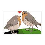 Robin red breast bird love Rectangle Car Magnet