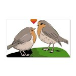 Robin red breast bird love Car Magnet 20 x 12