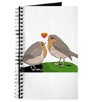 Robin red breast bird love Journal