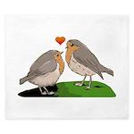 Robin red breast bird love King Duvet