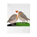 Robin red breast bird love Twin Duvet