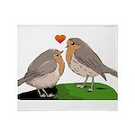 Robin red breast bird love Throw Blanket
