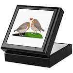 Robin red breast bird love Keepsake Box