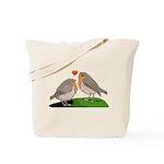 Robin red breast bird love Tote Bag