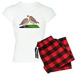 Robin red breast bird love Women's Light Pajamas