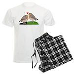 Robin red breast bird love Men's Light Pajamas