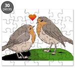 Robin red breast bird love Puzzle