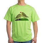 Robin red breast bird love Green T-Shirt