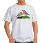 Robin red breast bird love Light T-Shirt