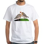 Robin red breast bird love White T-Shirt