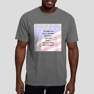 2-ILL KEEP MY GUNS, MONE Mens Comfort Colors Shirt