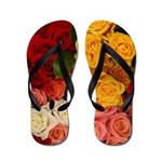 Multi-Color Rose Flip Flops