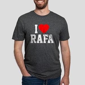 Heart Rafa -dk Mens Tri-blend T-Shirt
