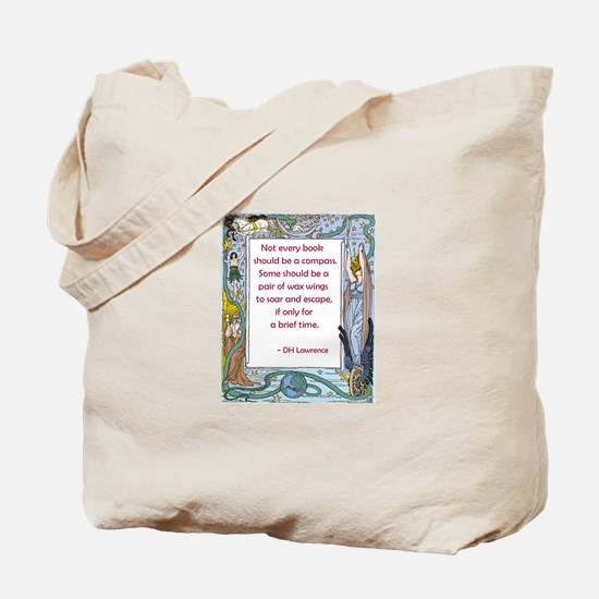 Books as a Pair of Wings Tote Bag