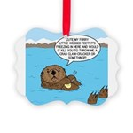 Mad Sea Otter Picture Ornament