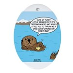 Mad Sea Otter Ornament (Oval)