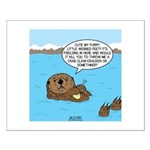Mad Sea Otter Small Poster