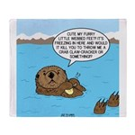 Mad Sea Otter Throw Blanket