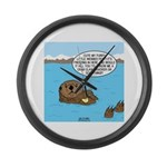 Mad Sea Otter Large Wall Clock