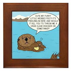 Mad Sea Otter Framed Tile