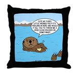 Mad Sea Otter Throw Pillow