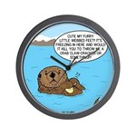 Mad Sea Otter Wall Clock