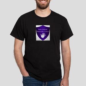 Lets Defeat Pancreatic Cancer Dark T-Shirt