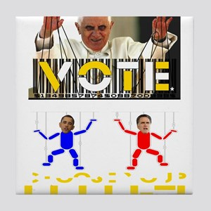 Vatican Puppets Tile Coaster