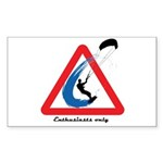 Enthusiasts only Sticker (Rectangle 50 pk)