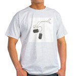 Support Our Troops Dog Tags Light T-Shirt