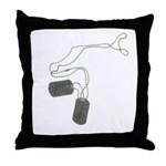 Support Our Troops Dog Tags Throw Pillow