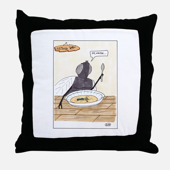 Man in the Soup Throw Pillow
