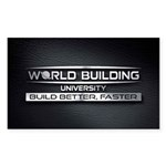 World Building Universit Sticker (Rectangle 50 pk)