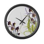 Atom Flowers #2 Large Wall Clock