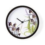 Atom Flowers #2 Wall Clock