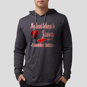 My Heart Belongs To Jason Mens Hooded Shirt
