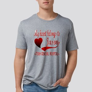 My Heart Belongs To Jason Mens Tri-blend T-Shirt