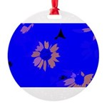 Glowing Petals Round Ornament