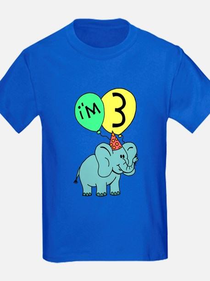 Birthday Elephant Three T